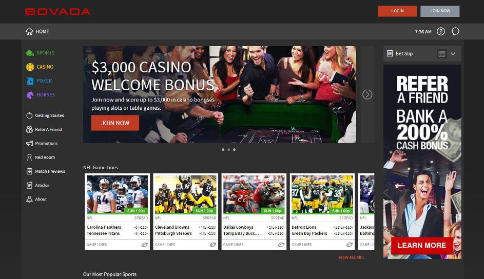 A Detailed Review of Bovada Sportbook and their Services
