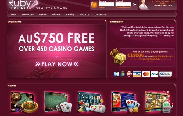 Ruby Fortune Online Casino. An Aussie Review